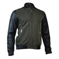 INC International Concepts Men's Faux Leather Sleeve Bomber Jackets S, Olive - S