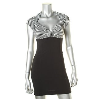 Guess Womens Juniors Striped Pleated Cocktail Dress - 3