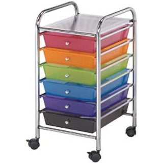 "13""X26""X15.5"" Multicolor - Storage Cart W/6 Drawers"