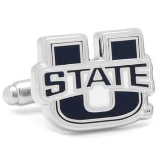 Utah State University Aggies Cufflinks - Blue|https://ak1.ostkcdn.com/images/products/is/images/direct/fd001ee7d7ef885c287dd0cbda0ed48d1d2ec1c3/Utah-State-University-Aggies-Cufflinks.jpg?impolicy=medium