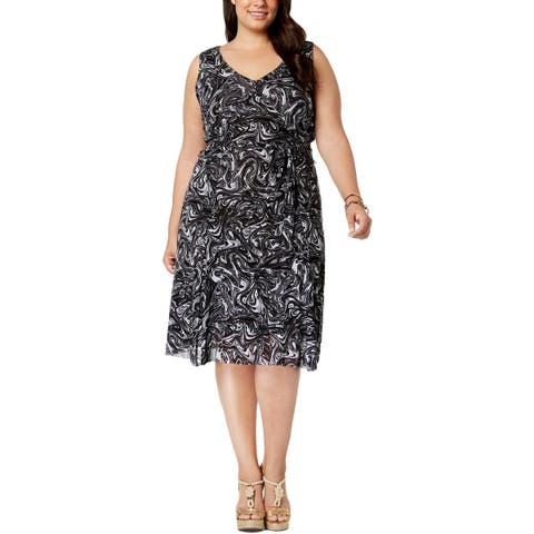 MICHAEL Michael Kors Womens Plus Tank Dress Sleeveless Knee-Length