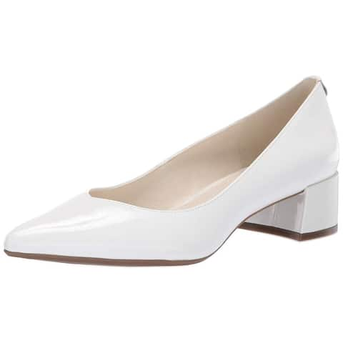 Anne Klein Womens Norwood Dress Pumps Leather Pointed Toe Classic Pumps