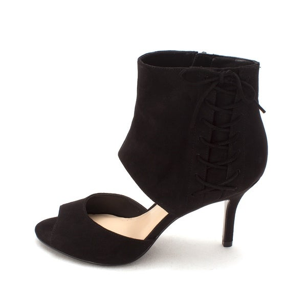 Nine West Womens Goldenoneo Fabric Open Toe Ankle Fashion Boots - 5.5