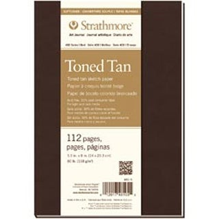 "Tan 56 Sheets - Strathmore Toned Sketch Softcover Journal 5.5""X8"""