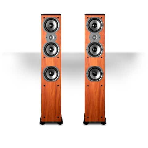 """Polk Audio TSi400 4-Way Tower Speakers with Three 5-1/4"""" Drivers - Pair (Cherry) - Cherry"""