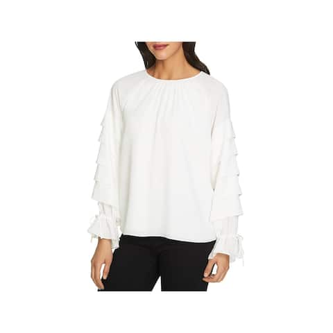 1.State Womens Dress Top Tiered Sleeve Pintuck