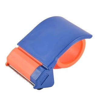 School Office Plastic Sealing Packaging Tape Dispenser Blue Orange 3-inches Wide