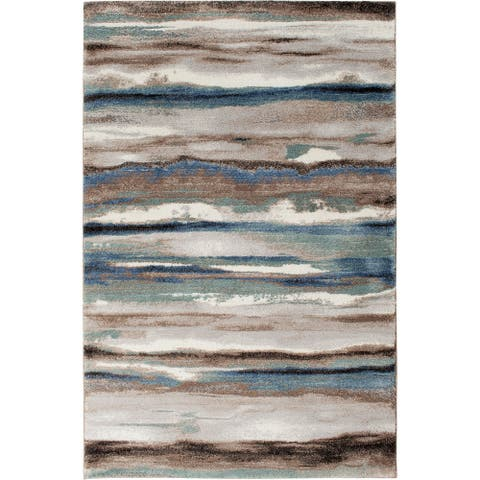 Reegan Dusk Blue and Multi Color Woven Area Rug