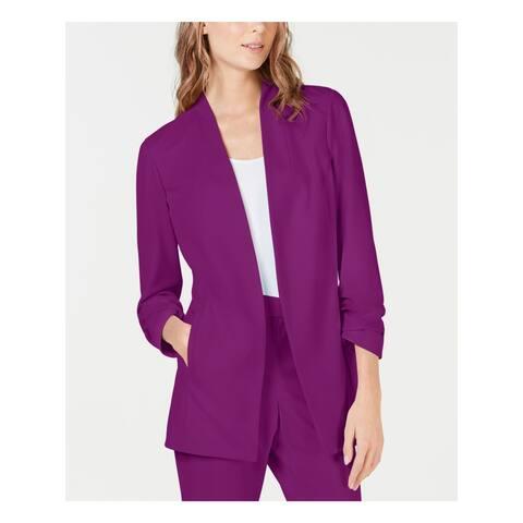 ALFANI Womens Purple Blazer Jacket Size XL