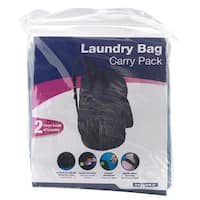 "Homz 1220225 Back Pack Laundry Bag, 24"" x 29"", Assorted"