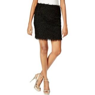 Studio M Womens Pencil Skirt Fringe Above Knee