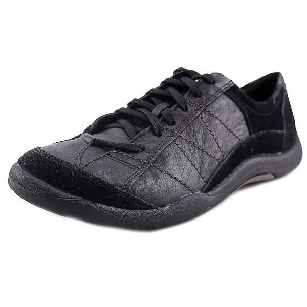 Hush Puppies Amuse II Women   Leather Black Fashion Sneakers
