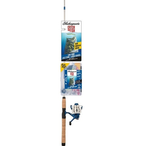 Shakespeare Catch More Fish Fishing Rod and Reel Spinning Combo (Lake/Pond)