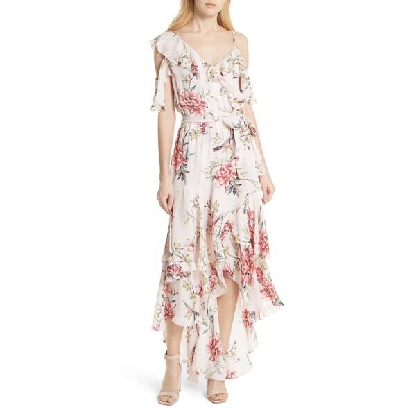 6eb991cc9 Shop Joie Pink Women's Size XS Floral Print Ruffle Maxi Dress Silk ...