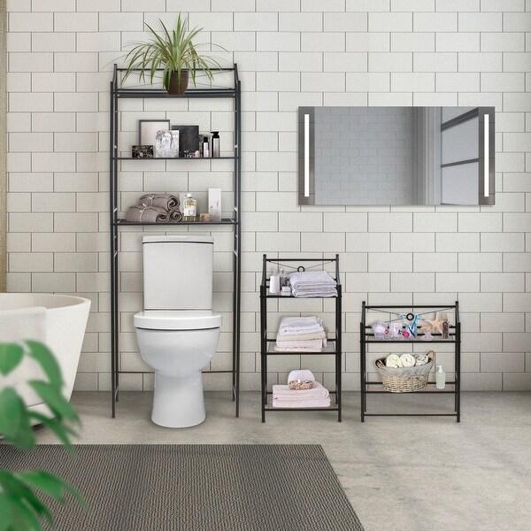 Sorbus Freestanding Bathroom Storage Shelf Overstock 19786358 2 Over The Toilet