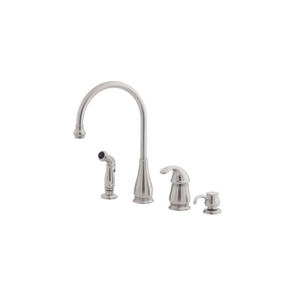 Pfister Lg26 4d Treviso Kitchen Faucet Includes Hand Sprayer And Soap Dispenser