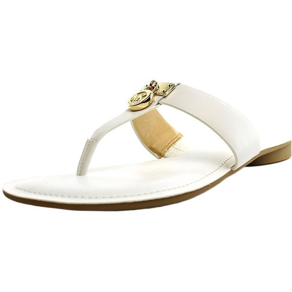 Michael Michael Kors Hamilton Flat Open Toe Leather Thong Sandal