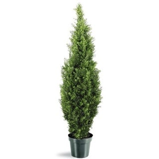 """48"""" Potted Artificial Arborvitae Topiary Tree"""