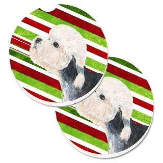 Dandie Dinmont Terrier Candy Cane Holiday Christmas Set of 2 Cup