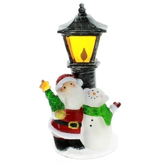 Santa with Snowman Night Light