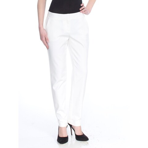VINCE CAMUTO Womens Ivory Straight leg Wear To Work Pants Size: 0