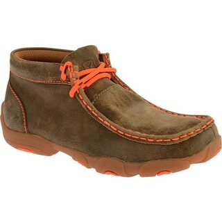 Twisted X Boots Children's YDM0006 Bomber/Neon Orange Leather