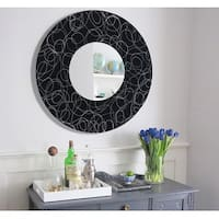 Statements2000 Black / Silver Metal Decorative Wall-Mounted Mirror by Jon Allen- Mirror 121