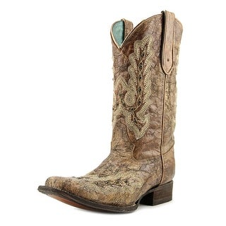 Corral C2919 Women Square Toe Leather Brown Western Boot