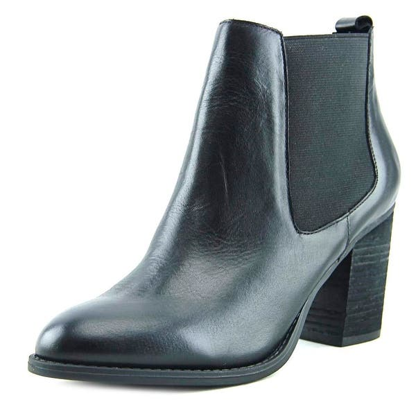 f35d421a0bd7 Shop Steve Madden Troyan Women Round Toe Leather Black Bootie - Free ...