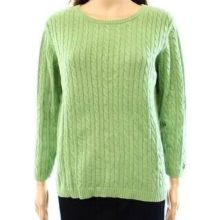 Polo Ralph Lauren NEW Green Women's Size Large L Crewneck Sweater