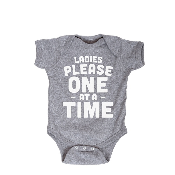 Ladies Please One At A Time Funny Baby Humor Novelty Cute-Infant One Piece
