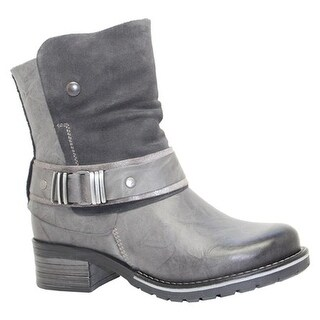 Dromedaris Women's Kikka Biker Boot Slate Leather