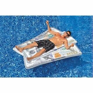 "Ben Franklin Money Mat - Large Inflatable Vinyl Pool Float - 88"" x 64"" - Multi"