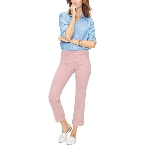 NYDJ Womens Marilyn Ankle Jeans Denim Straight