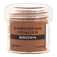 Brown - Embossing Powder 1Oz Jar