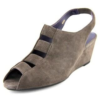 Vaneli Wianne Open Toe Synthetic Wedge Heel