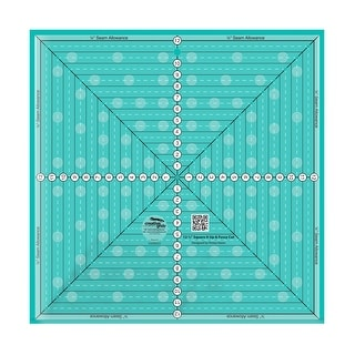 """Link to Creative Grids 12-1/2in Square It Up or Fussy Cut Square Quilt Ruler - 0.25"""" x 24"""" x 24"""" Similar Items in Sewing & Quilting"""