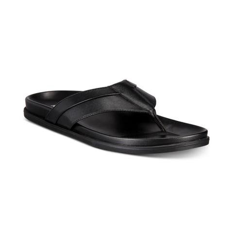 Alfani Mens troy Fabric Slip On Open Toe Flip Flops