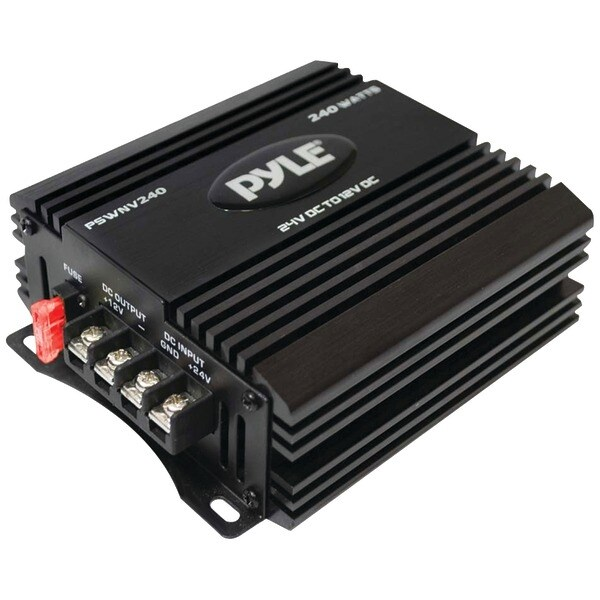 PYLE PRO PSWNV240 24-Volt DC to 12-Volt DC Power Step-Down Converter with PMW Technology (240 Watts)
