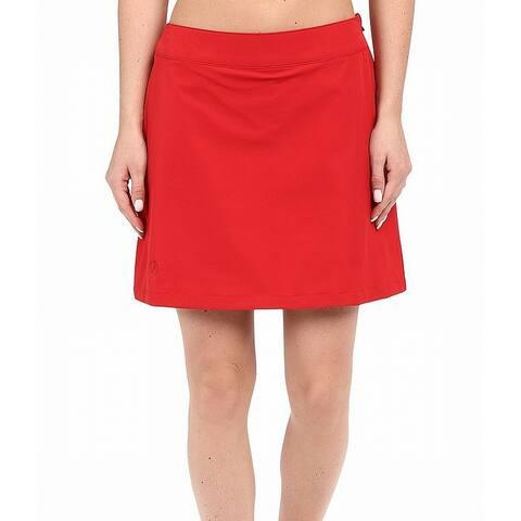 Fjallraven Red Womens Size Small S Abisko Trekking Skorts Shorts