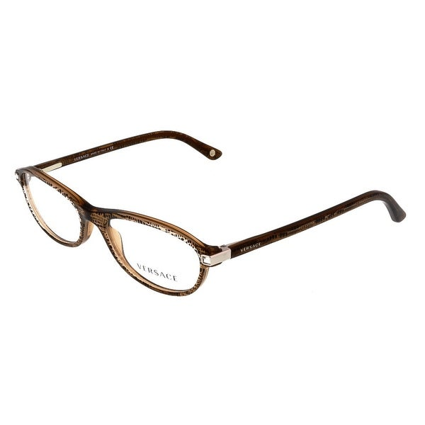 Versace VE3165B 991 Clear Brown Oval Opticals - clear brown