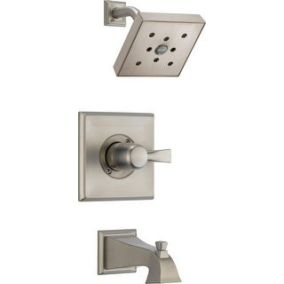 Delta T14451-H2O  Dryden Tub and Shower Trim Package with Single Function Shower Head and H2Okinetic Technology