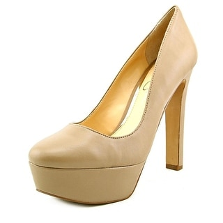 Jessica Simpson Ansley Round Toe Leather Heels