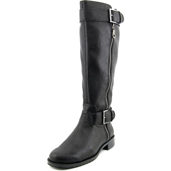 Aerosoles Ride Around Wide Calf Women Round Toe Synthetic Black Knee High Boot