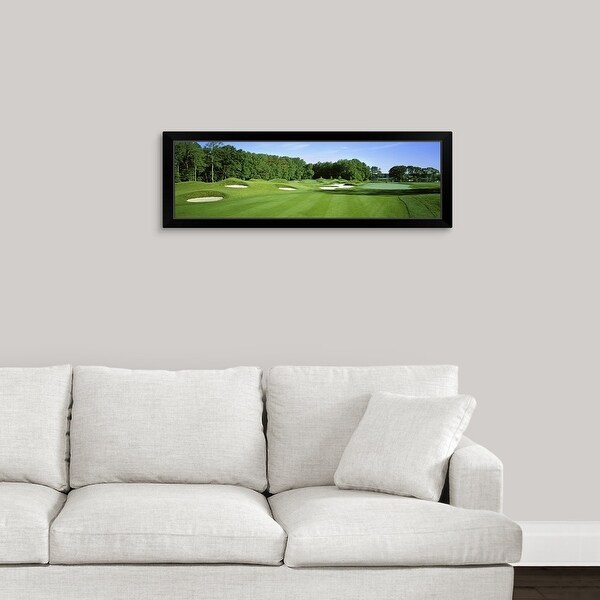 """""""Sand traps in a golf course, River Run Golf Course, Berlin, Worcester County, Maryland"""" Black Framed Print"""