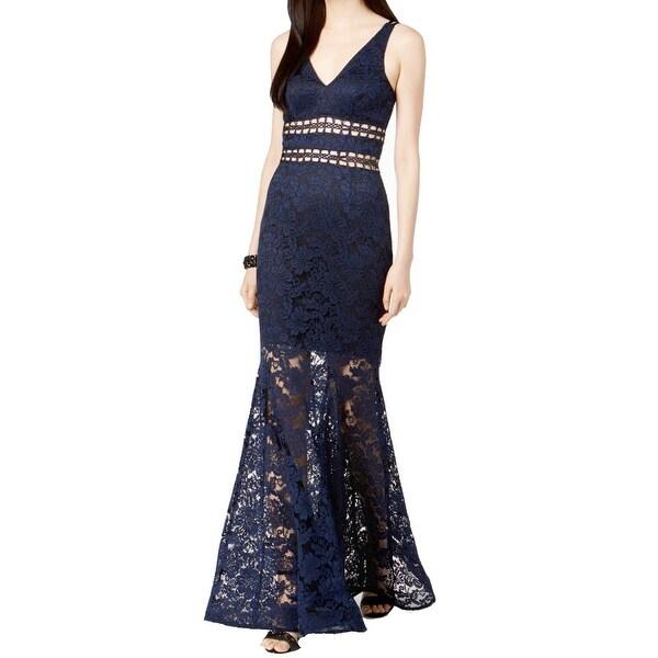 559d46bc685c Shop Xscape Women's Cut-Out Floral Lace Mermaid Gown Dress - Free ...