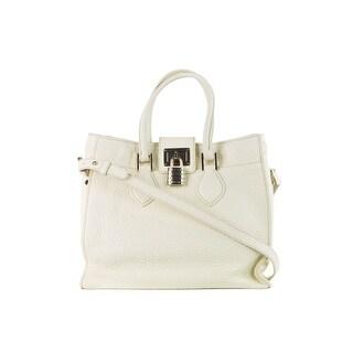 Roberto Cavalli Womens Ivory Leather Medium Florence Bag - Off White - M