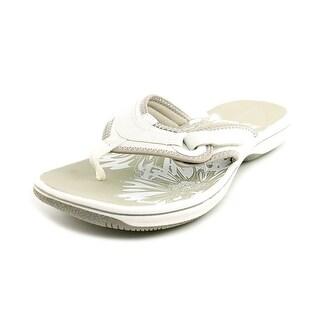 Clarks Breeze Mila Open Toe Leather Flip Flop Sandal