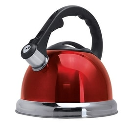 Primula 1513RED Safe-T Whistling Tea Kettle, Red