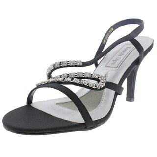 Touch Ups Womens April Satin Rhinestone Evening Sandals - 6 medium (b,m)